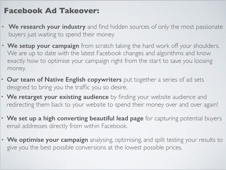 social facebook ads product