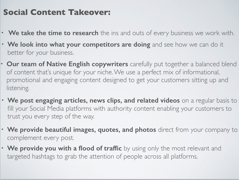 social content product